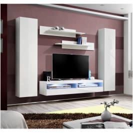 ASM Obývací stěna FLY O, bílá matná/bílý lesk