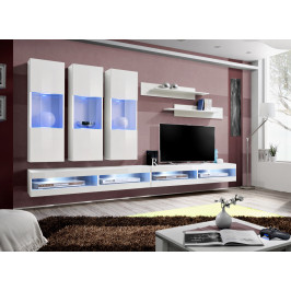 ASM Obývací stěna FLY Q, bílá matná/bílý lesk