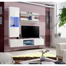 ASM Obývací stěna FLY S, bílá matná/bílý lesk