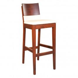 Drewmax Barová židle KT392 masiv dub dub přírodní tmavě šedá