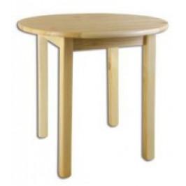 Drewmax Jídelní stůl ST105 průměr 80 masiv gray