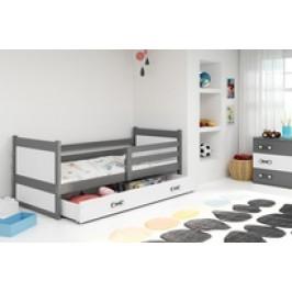 b2b1 BMS-group Dětská postel RICO 1 90x200 cm, grafitová/bílá Pěnová matrace