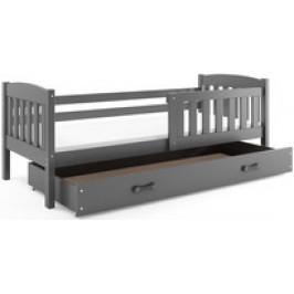 b2b1 BMS-group Dětská postel KUBUS 1 90x200 cm, grafitová/grafitová Pěnová matrace