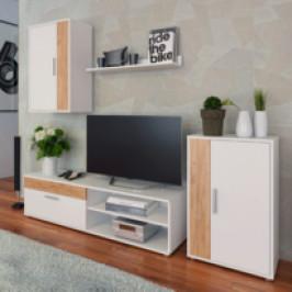 Tempo Kondela, s.r.o. Obývací stěna, bílá/dub artisan, KEVIN
