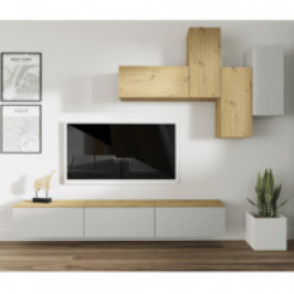 Tempo Kondela, s.r.o. Obývací stěna, světlešedá/dub artisan, OTEN