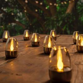 Dekorativní LED solární stolní lampy Pedas,10 kusů