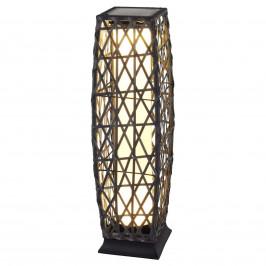 Dekorativní solární svítidlo Talora vzhled ratanu