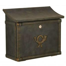 Poštovní schránka MERITO zelená/zlatá patina