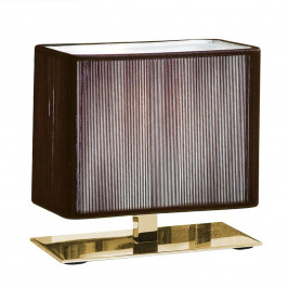 Axolight Clavius stolní lampa 17 cm tobacco/zlato