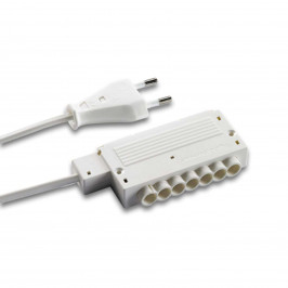 HVLCS síťové připojovací vedení 2 m, 6x rozdělovač