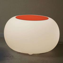 Stůl BUBBLE Indoor LED RGB + plsť oranžová