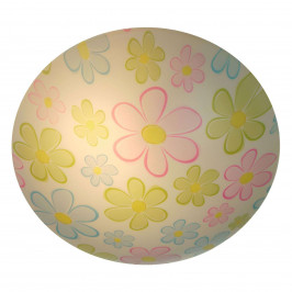 Kulaté dětské stropní světlo Bunte Blumen