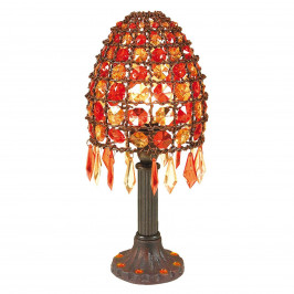 Stolní lampa Bella osázená perlami výška 35 cm