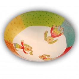 Rainbow Rabbit - kulatá dětská stropní lampa