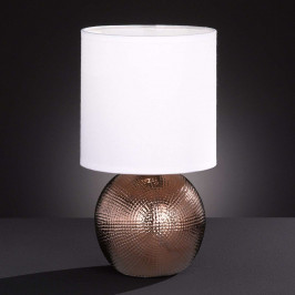 Malá stolní lampa Foro snohou vměděné barvě