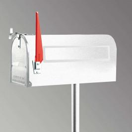 U.S. Mailbox s otočným praporkem, bílá