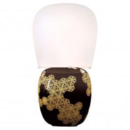 Kundalini Hive - keramická stolní lampa černá