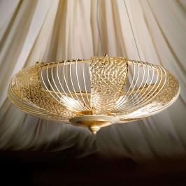 Zlatě mořené závěsné světlo Marrakech