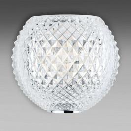 Fabbian Diamond and Swirl nástěnné světlo křišťál