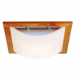 Stella – stropní svítidlo se dřevem a lunopalem