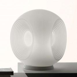 Fabbian Eyes - bílá skleněná stolní lampa