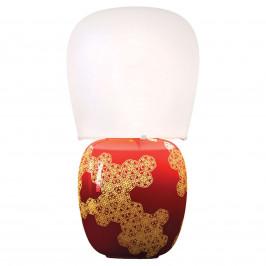 Kundalini Hive - keramická stolní lampa červené