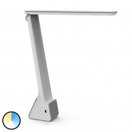 LED stolní lampa MAULseven s baterií, šedá