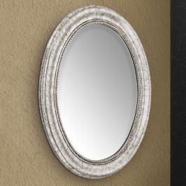 Oválné nástěnné zrcadlo Willa s dřevěným rámem