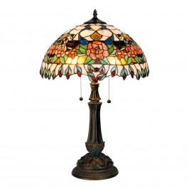 Nádherně barevná stolní lampa Maja, Tiffany design