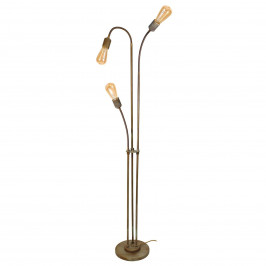 Stojací lampa Allen, antická mosaz, 3zdrojová