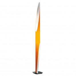 Kundalini Shakti - stojací lampa chromovaná, oranž