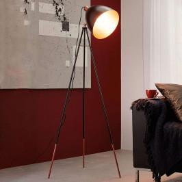 Stojací lampa Chester v černé/měděné