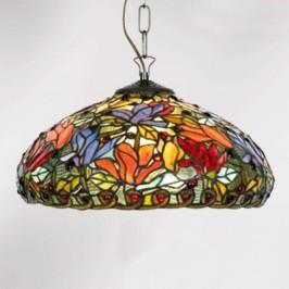 Závěsné světlo Elaine v Tiffany stylu, 1zdrojové