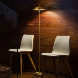 Vibia Mayfair - stojací lampa LED, zlatá matná
