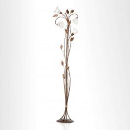 Stojací lampa Florentia se skleněnými květy Murano