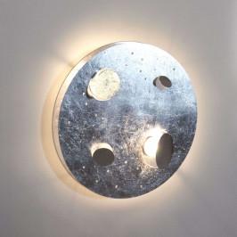 Knikerboker Buchi LED nástěnné světlo Ø40cm stříb