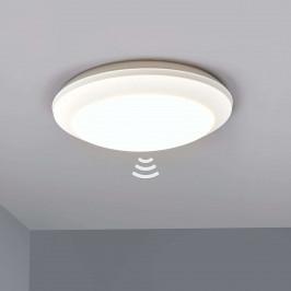 Bílé stropní světlo Umberta 2xE27, detektor