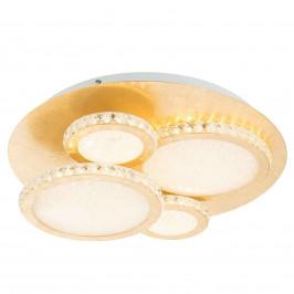 LED stropní svítidlo Tilo, zlaté, 3000 K 36W