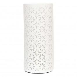 Stolní lampa Mia s květinovým vzorem, H 28 cm