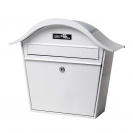 Bílá poštovní schránka Holiday 5842 z oceli