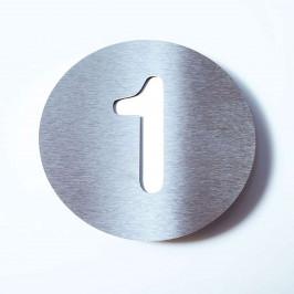 Domovní číslo Round z nerezu - 1