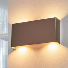 LED nástěnné svítidlo Manon, nikl, 22 cm