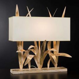 Stolní lampa Leon s pozlátkem
