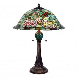 Okouzlující stolní lampa Waterlily v Tiffany stylu