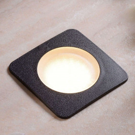 Černé hranaté zápustné svítidlo Ceci 120-SQ, 3 W