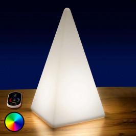 Bateriová RGB LED pyramida venkovní