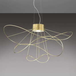 Axolight Hoops 3 - pozlacené závěsné světlo LED