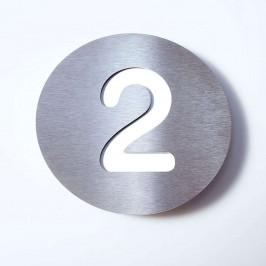 Domovní číslo Round z nerezu - 2