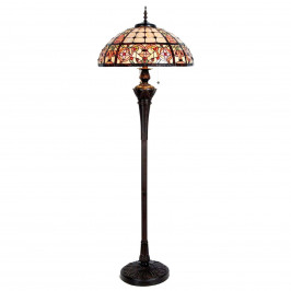 Luxusní stojací lampa Lindsay v Tiffany stylu