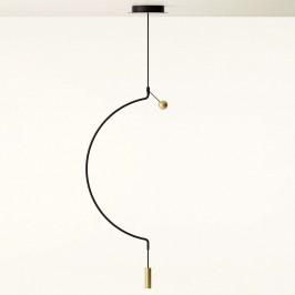 Axolight Liaison M1 závěsné světlo čerň/zlato 46cm